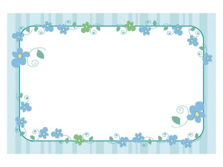 文字無し・手書き小花の寒中見舞いテンプレートイラスト03