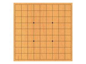 明るい木目の将棋盤のイラスト