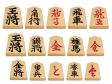 成駒も含む将棋の駒のイラスト