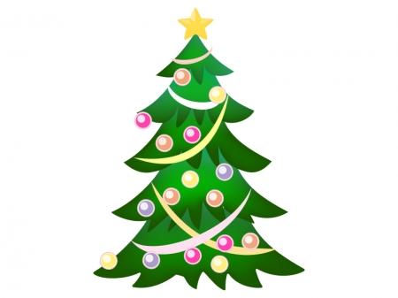 クリスマスツリー・冬のイラスト02