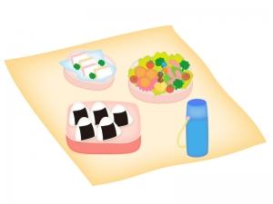 運動会・ピクニックのお弁当のイラスト