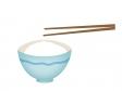 お箸と一杯のご飯茶碗のイラスト