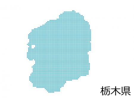 栃木県・四角ドットのデザイン地図のイラスト