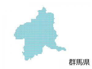 群馬県・四角ドットのデザイン地図のイラスト