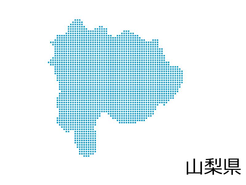 山梨県・四角ドットのデザイン地図のイラスト