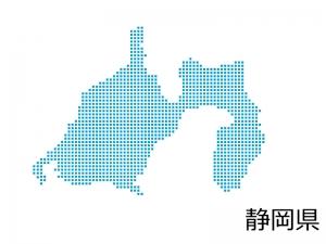 静岡県・四角ドットのデザイン地図のイラスト
