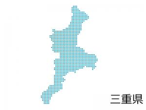 三重県・四角ドットのデザイン地図のイラスト