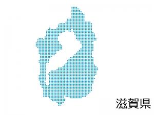 滋賀県・四角ドットのデザイン地図のイラスト
