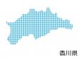 香川県・四角ドットのデザイン地図のイラスト
