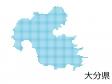 大分県・四角ドットのデザイン地図のイラスト