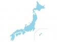 ドットの日本地図(ベクターデータ)のイラスト素材02