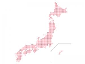丸ドットの日本地図(ベクターデータ)のイラスト02