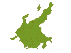中部地方の地図(ベクターデータ)のイラスト