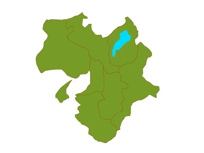 近畿地方の地図(ベクターデータ)のイラスト