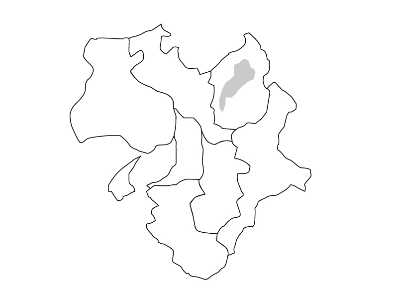 近畿地方の白地図(ベクターデータ)のイラスト