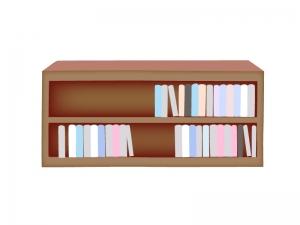 読書の秋・本棚と本のイラスト