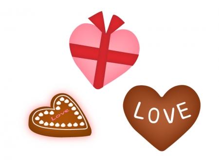 バレンタイン・ハート形のチョコレートのイラスト