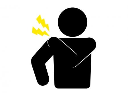 肩の痛み・トラブルをイメージしたシルエットのイラスト