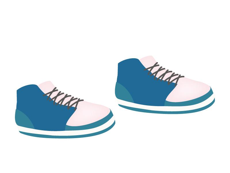 青いスポーツシューズ・運動靴のイラスト