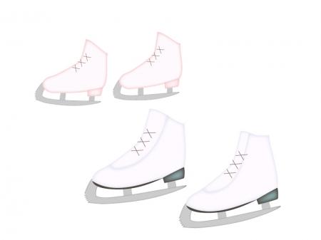 フィギュアスケート靴のイラスト