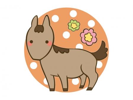 かわいい馬・午のイラスト