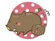 かわいいイノシシ・猪のイラスト