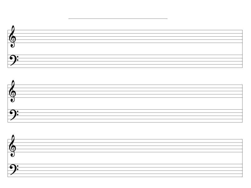 五線譜・ト音記号とヘ音記号のテンプレート