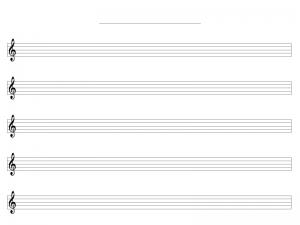 五線譜・ト音記号のみのテンプレート