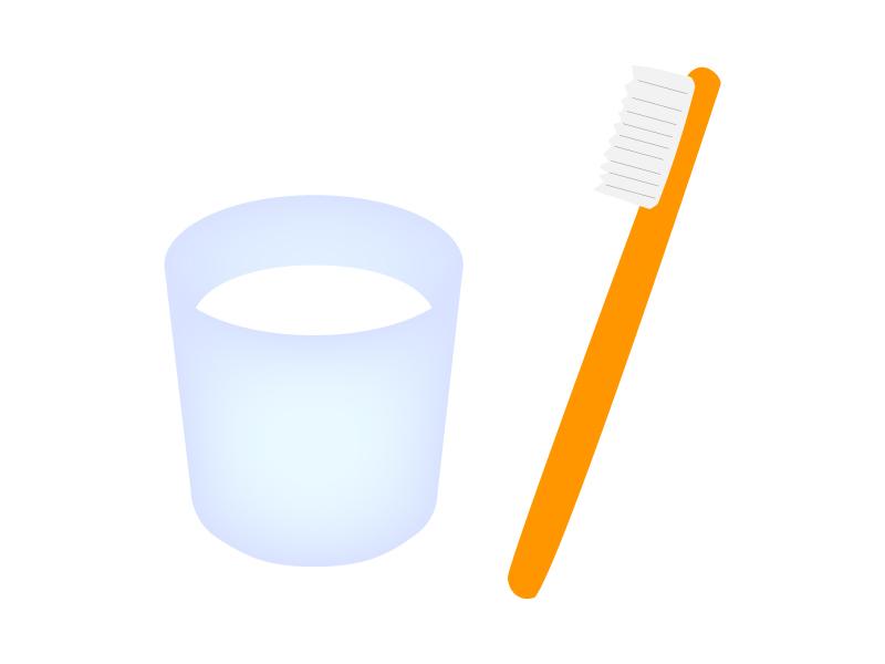 歯科・歯ブラシとコップのイラスト
