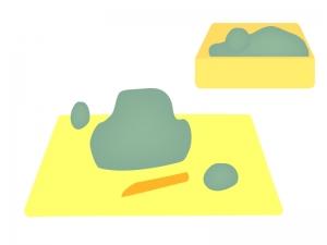 工作・図工・粘土のイラスト