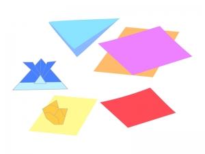 折り紙・工作のイラスト