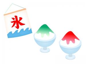 いちごとメロンのかき氷・夏イラスト