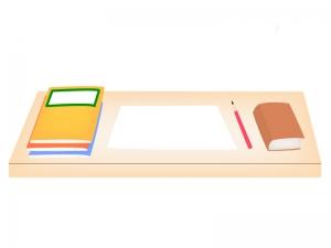 勉強机の上にあるノートや鉛筆のイラスト