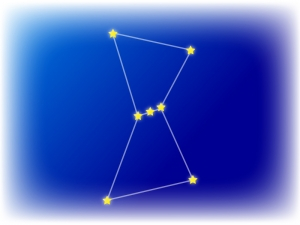 星座・オリオン座のイラスト