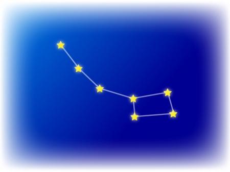 星座・こぐま座のイラスト