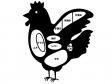 鶏肉の部位のシルエットイラスト