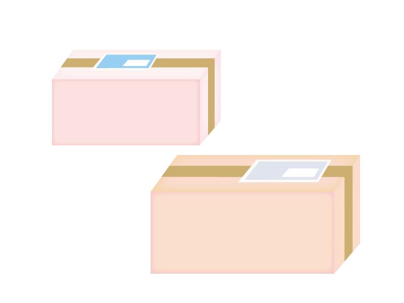 ダンボールの小包のイラスト