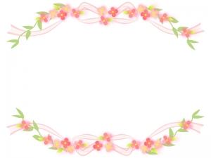 花のフレーム・飾り枠素材04