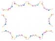 折り紙で作った輪飾り・輪つなぎのフレーム・枠素材イラスト
