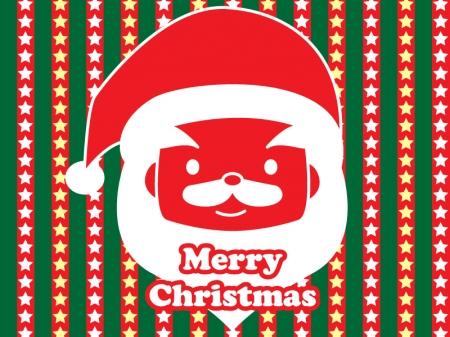 サンタクロースのクリスマスグリーティングカードのイラスト