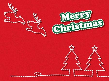 クリスマスのグリーティングカードのイラスト