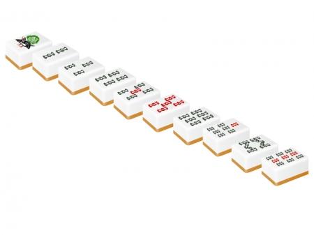 麻雀・立体的なソーズ(索子)の牌のイラスト
