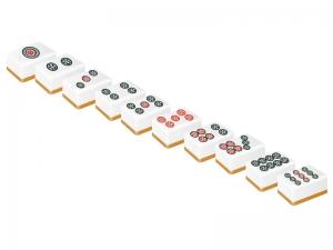 麻雀・立体的なピンズ(筒子)の牌のイラスト