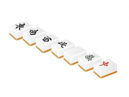 麻雀・立体的な字牌イラスト