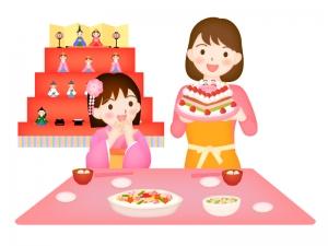 雛祭りのお祝いのイラスト02