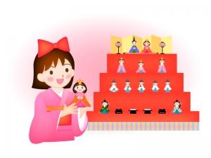 雛祭りのお祝いのイラスト03
