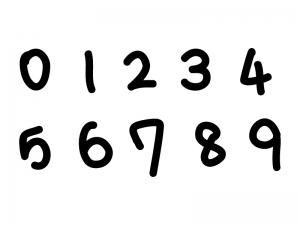 手書きマーカー風の数字イラスト