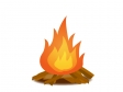 たき火・炎のイラスト
