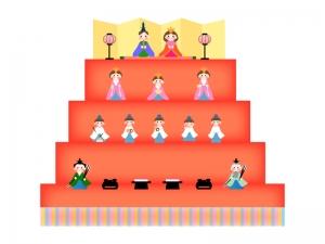 雛祭り・雛飾りのイラスト
