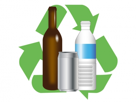 ゴミのリサイクルをイメージさせるイラスト